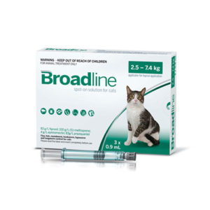 BROADLINE FOR CATS 2,5-7,5kg (1 ampula)