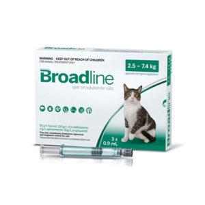 BROADLINE FOR CATS 2,5-7,5kg (1 ampula)